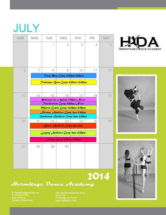 Summer Camps_kwh July