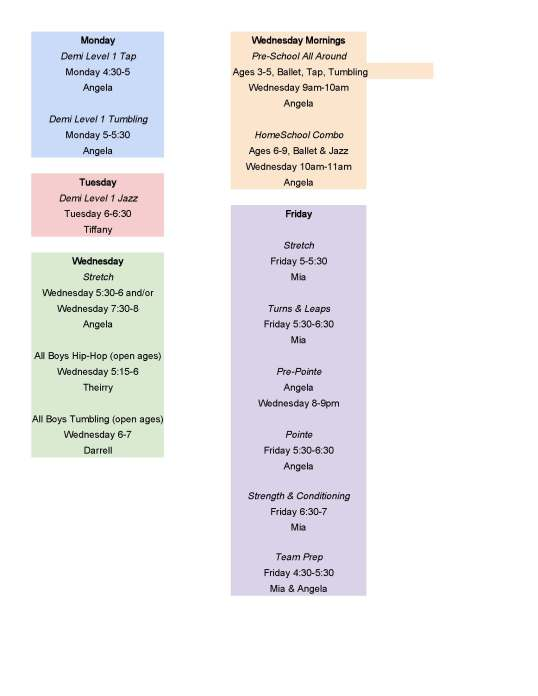 2014 Added Classes
